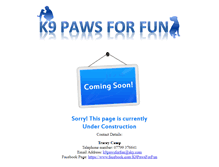 Tablet Preview of k9pawsforfun.co.uk